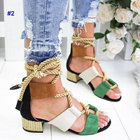 Sexy and fashionable women wear high heels and sandals