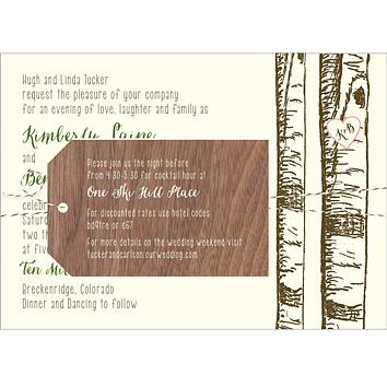 Birch Aspen Tree Wedding Invitation Collection