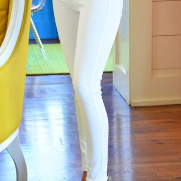 Elyse Denim Leggings, White