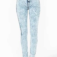 Cheap Monday Second Skin Jeans - Stonewash