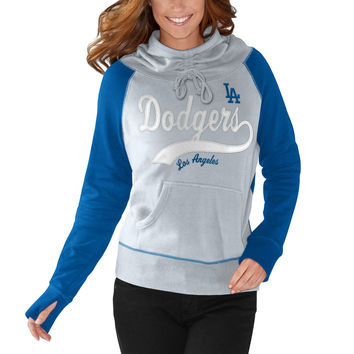 Women's G-III 4Her by Carl Banks Gray/Royal Los Angeles Dodgers Charge the Mound Hoodie