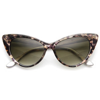 Mod Fashion Demi Color Super Cateye Sunglasses