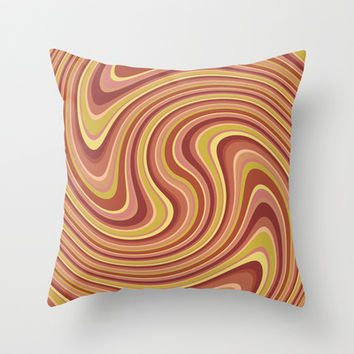 Twist and Shout-Canyon colorway Throw Pillow by Groovity