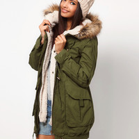 Women Faux Fur Coat Pockets Hooded Autumn Winter Basic Jacket  Coat Outwear _ 9346