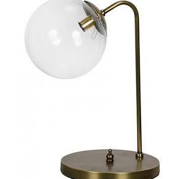 Miley Table Lamp, Antique Brass