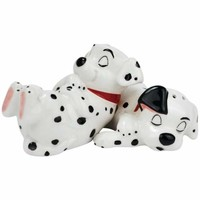 101 Dalmatians Puppies Sleeping Magnetic Salt and Pepper Shaker Set