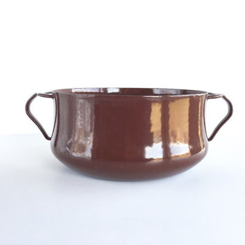 Vintage Dansk Kobenstyle 2 Qt. Brown Pot or Saucepan