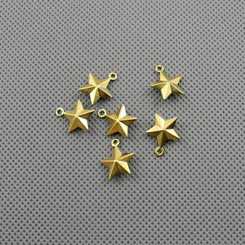 5x Making Jewellery Supply Pendant Lots schmuckset Jewelry Findings Charms Schmuckteile Charme 4-A2234 Five-pointed star