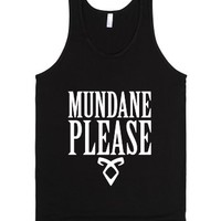 Mundane Please-Unisex Black Tank