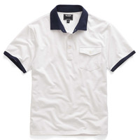 White Contrast Polo