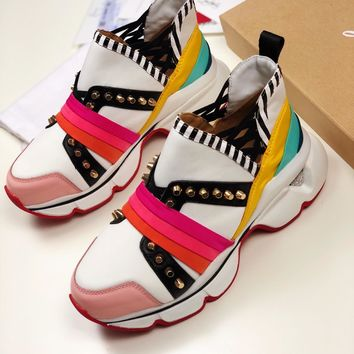 2020 NEW Cl Christian Louboutin Louis Spikes Style #1868 Sneakers Fashion Shoes
