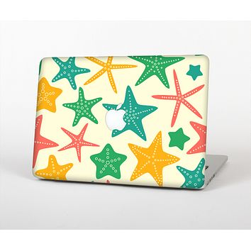 The Tan And Colorful Vector StarFish Skin Set for the Apple MacBook Air 13""