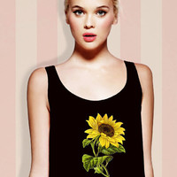 Sunflower 90s Inspired Cropped Tank Top