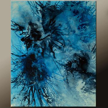 Abstract Canvas Art Painting 16x20 Original by Destiny Womack - dWo - The Storm