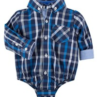 Andy & Evan 'Shirtzie' Button Down Bodysuit (Baby Boys) | Nordstrom