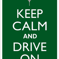 KEEP CALM and DRIVE On Golf Tin Aluminum Parking sign home decor wall hanging