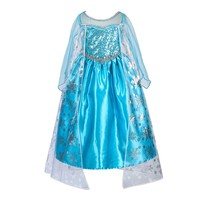 CRAZY POMELO Snow Queen Princess Costume Glitter Cosplay Dress Height 100cm