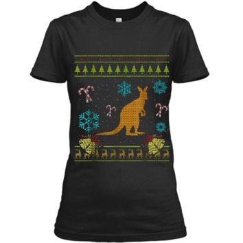 Animated Christmas Sweater  Kangaroo Ladies Custom