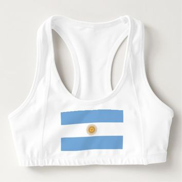 Women's Alo Sports Bra with flag of Argentina
