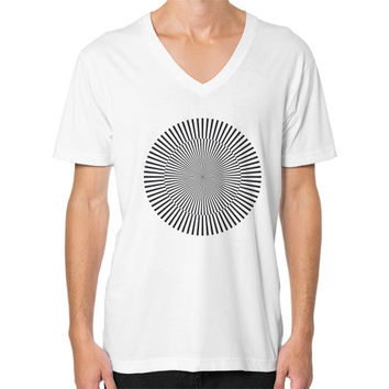 Circle with kinetic art V-Neck (on man)