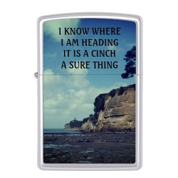 Cinch Photo Quote by Kat Worth Zippo Lighter