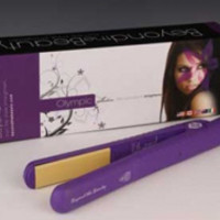 Purple- Ceramic Plate Hair Straightener 1-1/2""
