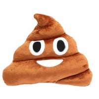 Etosell Stuffed Pillow Cushion Emoji Poop Shaped Smiley Face Doll Toy
