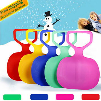 LumiParty Adult Kids Thicken Plastic Skiing adulte Ski Pad Children Snow grass sand Sledge Sled for Winter Sports SCI equiment