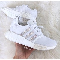 adidas nmd individuality sequins fashion trending women leisure running sports shoes-2