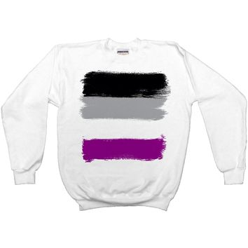 Asexual Pride Flag -- Sweatshirt