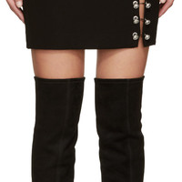 Black Multiple Pin Miniskirt