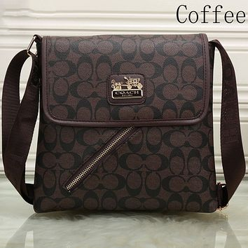 Coach tide brand women's stylish shoulder bag F-KSPJ-BBDL coffee