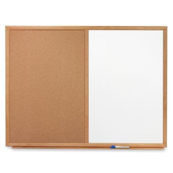 Quartet Dry-erase/Cork Board, 3'x2', Oak Frame