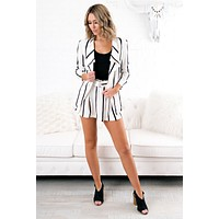 Be There For Me Striped Two Piece (Ivory)