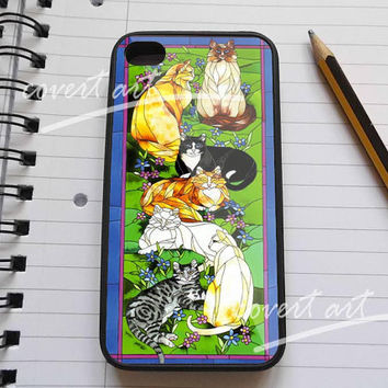 Tiffany Cats in staind glass iPhone 4 / 4S / 5 / 5c / 5s Case Samsung Galaxy S3 / S4 Case