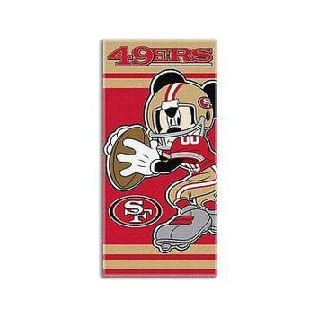 NFL San Francisco 49ers Disney Beach Towel, 30-inch by 60-inch