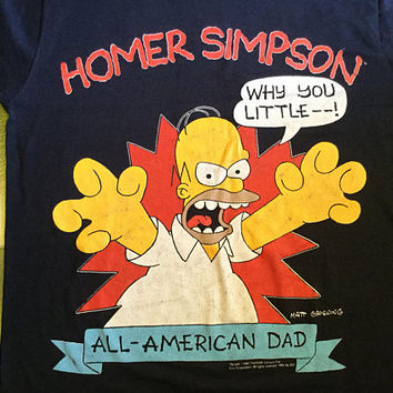 Vintage 1990 homer simpson / the simpsons t-shirt / Size XL