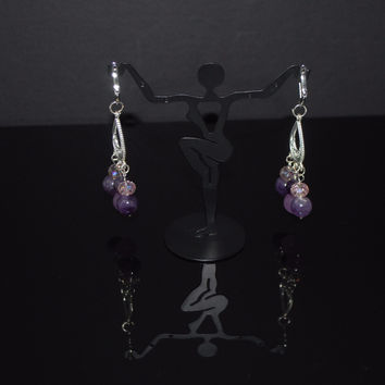 Amethyst Crystal Chandelier Earrings