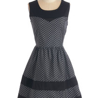 ModCloth Critters Mid-length Sleeveless A-line Nevermore Lovely Dress in Dogs