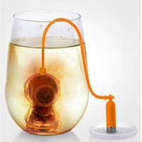 Deep Tea Diver Infuser Fred & Friends Silicone Strainer Loose Leaf Steeper Sea