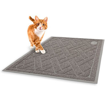 Phthalate Free Cat Litter Mat - Patent Pending Design with Litter Lock Mesh - Extra Large - Durable - Repels Liquids and Odors - Easy to Clean - Soft - Fits Under Litter Box - Litter Free Floors