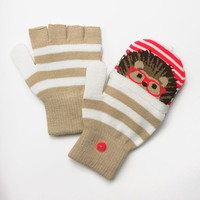 SO Happy Hedgehog Flip-Top Fingerless Gloves