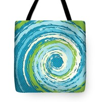 "Hurricane Blue Tote Bag for Sale by Shawna Rowe - 18"" x 18"""