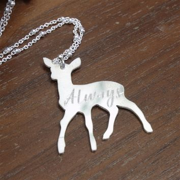 Limited Edition Sterling Silver Snape's Patronus Necklace - Spiffing Jewelry