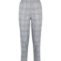 Light Grey Check Slim Leg Trousers | New Look