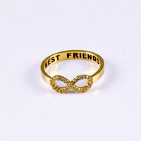 Best Friends Infinity Studded Ring