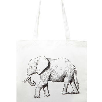 Elephant Graphic Tote - New Arrivals Accessories - 1000205540 - Forever 21 EU English