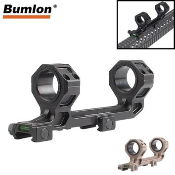 Rifle Optical Scope Mount Dual Ring 25.4mm 30mm Fits AR15 M4 M16 with Bubble Level for 20MM Picatinny Weaver Rail  RL2-0028