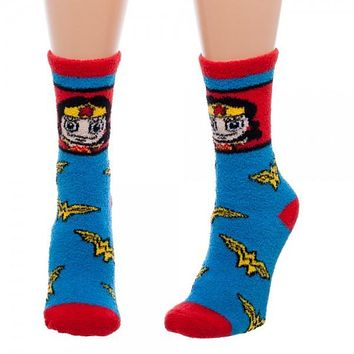 Wonder Woman Juniors Fuzzy Socks