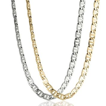 """Stainless Steel Mariner Link Chain Necklace, 20"""""""